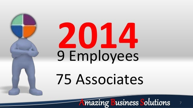 7 20149 Employees 75 Associates Amazing Business Solutions