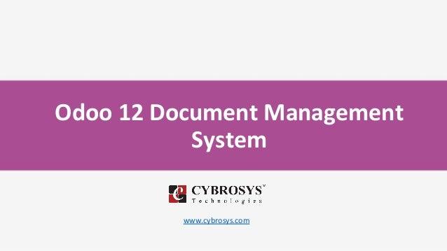 Odoo 12 Document Management System www.cybrosys.com