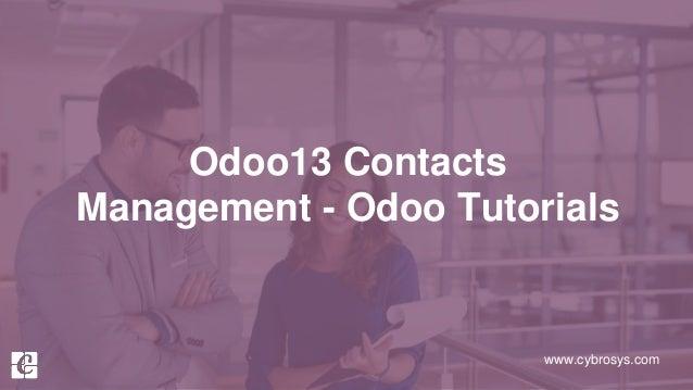 www.cybrosys.com Odoo13 Contacts Management - Odoo Tutorials