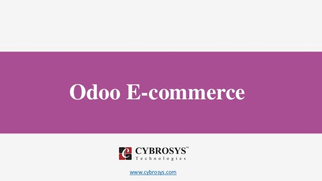 www.cybrosys.com Odoo E-commerce