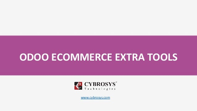 ODOO ECOMMERCE EXTRA TOOLS www.cybrosys.com