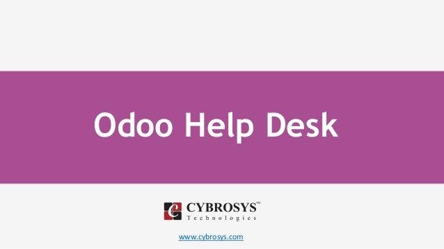www.cybrosys.com Odoo Help Desk