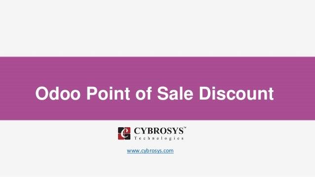 Odoo Point of Sale Discount www.cybrosys.com
