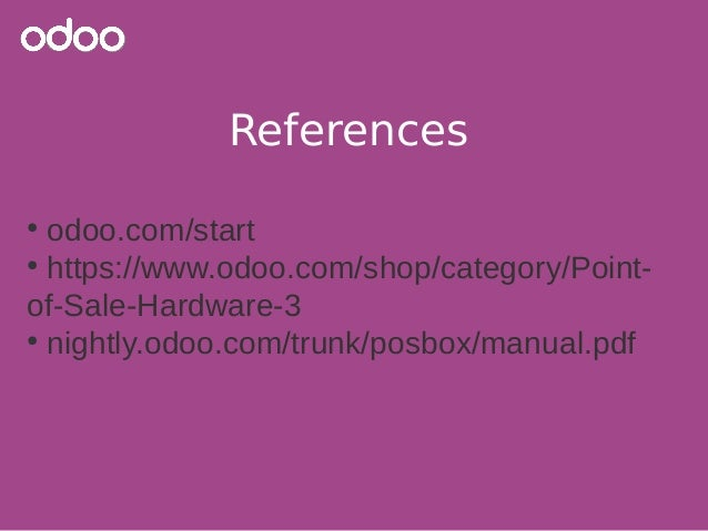 Odoo - Features and configuration of your Odoo Point of Sale