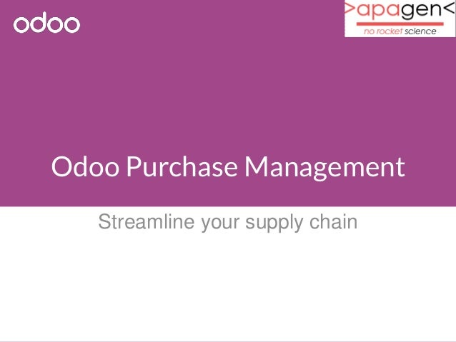 Odoo Purchase Management  Streamline your supply chain
