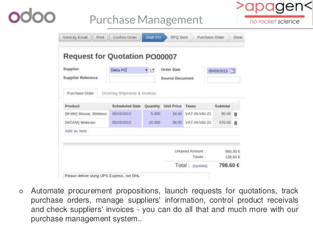 Odoo Purchase Management