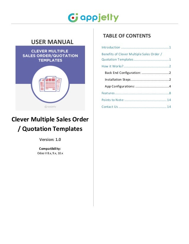 odoo sales order quotation templates