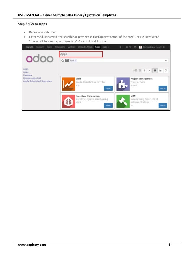 Odoo Sales Order & Quotation Templates