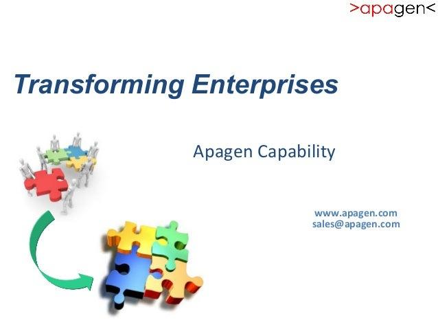 Transforming Enterprises                                                  ...