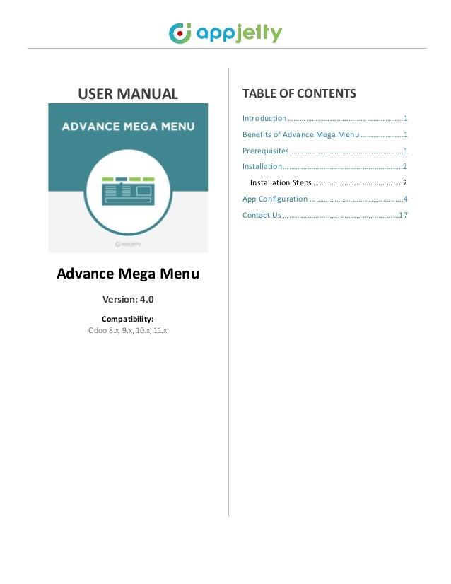 Odoo Website Mega Menu App, Multiple Column Mega Menus Plugin