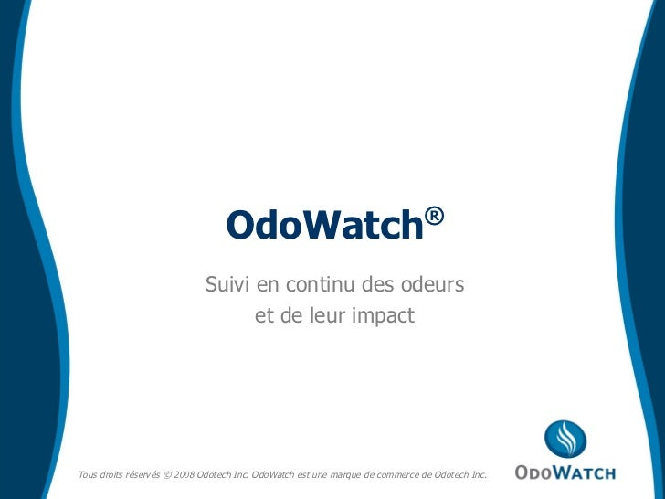 Suivi en continu des odeurs et de leur impact OdoWatch ®