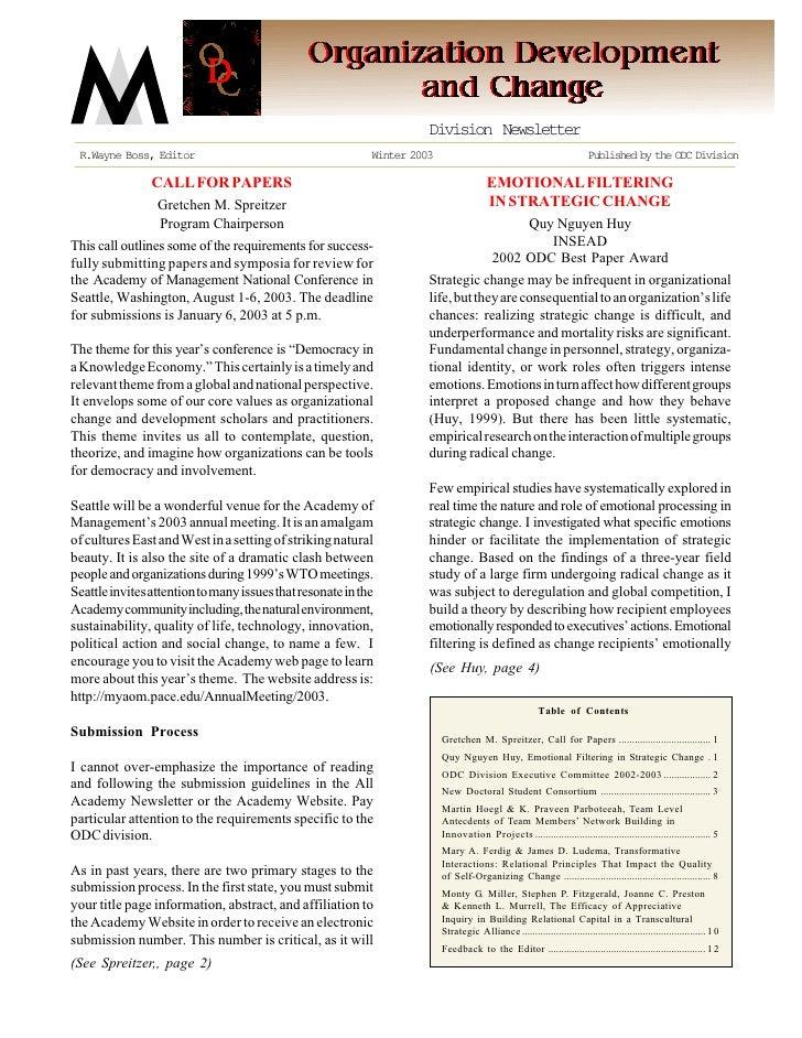Division Newsletter  R.Wayne Boss, Editor                                       Winter 2003                               ...
