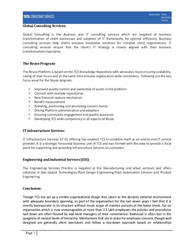 unethical practice in tata consultancy services Tata consulting engineers follow the tata business excellence model (tbem) - a set of processes that sets the standards for the business and services the tbem is based on the recommendations of baldridge national quality program.