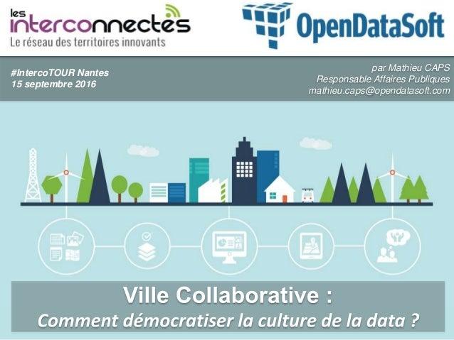 par Mathieu CAPS Responsable Affaires Publiques mathieu.caps@opendatasoft.com #IntercoTOUR Nantes 15 septembre 2016
