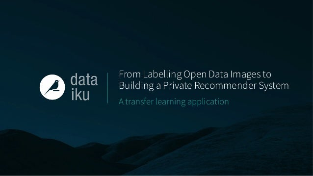 From Labelling Open Data Images to Building a Private Recommender System A transfer learning application