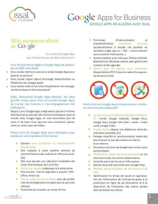 Google Apps for Business en Algérie, avec ISSAL Slide 3