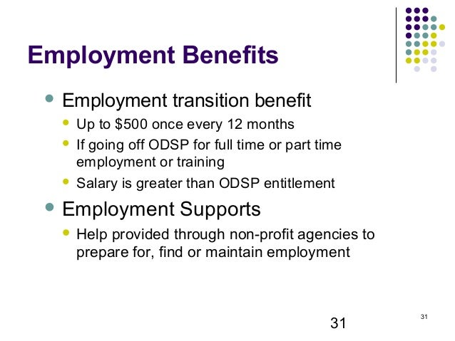 Ontario Disability Support Program (ODSP) - Know Your Benefits