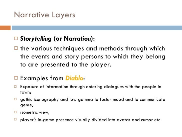 narrative storytelling examples