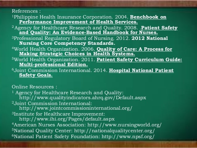 Improving Healthcare Quality