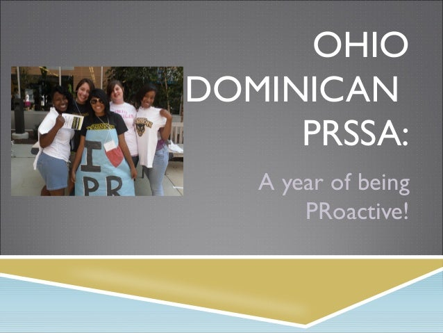 OHIO DOMINICAN PRSSA: A year of being PRoactive!