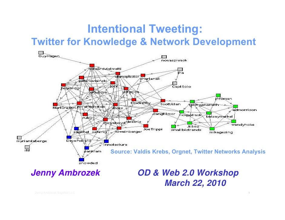 Intentional Tweeting: Twitter for Knowledge & Network Development                                      Source: Valdis Kreb...