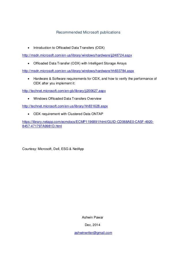 ODX (Offloaded Data Transfers)