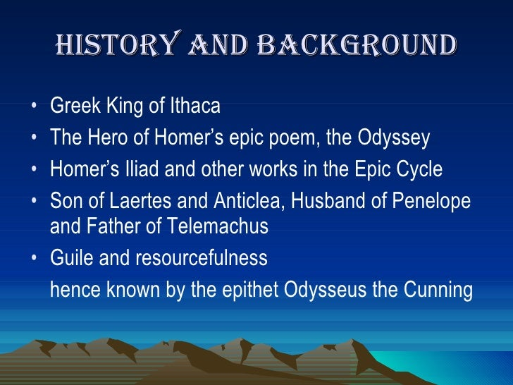 odysseus resourceful Odysseus - admirable character so far odysseus seems to be incredible, resourceful and even godlike, but the odyssey presents him in new light, reveals his true character and shows both - his good and his bad side truly.