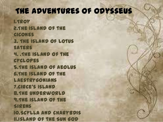 The adventures of odysseus summary