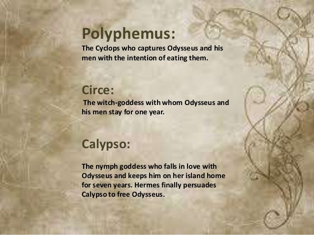 calypso and circe essays Moved permanently the document has moved here.