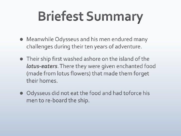 lotus eaters odysseus summary