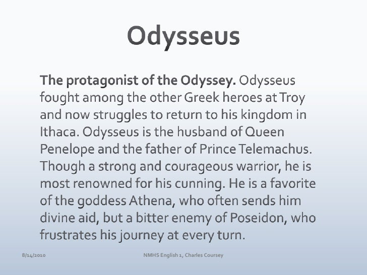 odysseus characterization paper Read this essay on character analysis: beowulf vs odysseus come browse our large digital warehouse of free sample essays get the knowledge you need in order to pass your classes and more.
