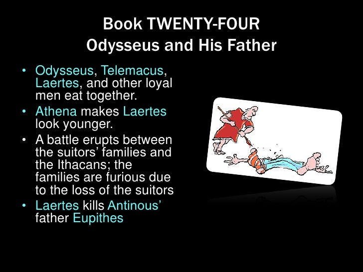 the odyssey books 23 and 24 Book 24 summary and analysis themes characters  be sure you recall these details and more by taking this quiz over book 23 of the odyssey from enotes question 1.