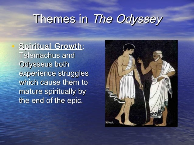 the odyssey themes One major theme of the odysseyconcerns the beauty of home for odysseus, there is simply no place like home as he says early on to king alcinous of phaeacia, nothing more sweet than home and .