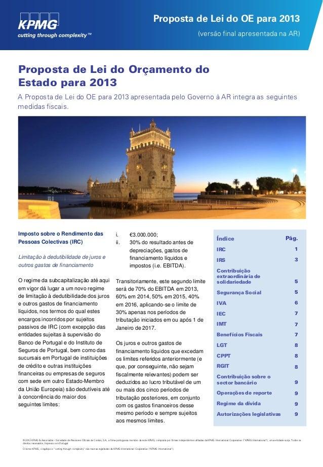 Proposta de Lei do OE para 2013                                                                                           ...