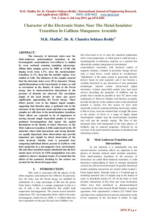 M.K. Madhu, Dr. K. Chandra Sekhara Reddy / International Journal of Engineering Research and Applications (IJERA) ISSN: 22...