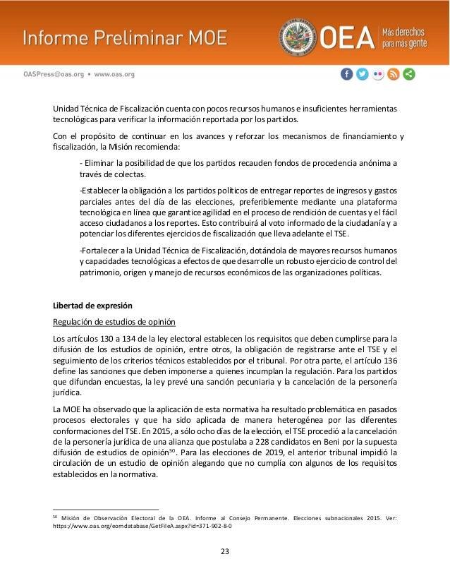 23 Unidad Técnica de Fiscalización cuenta con pocos recursos humanos e insuficientes herramientas tecnológicas para verifi...