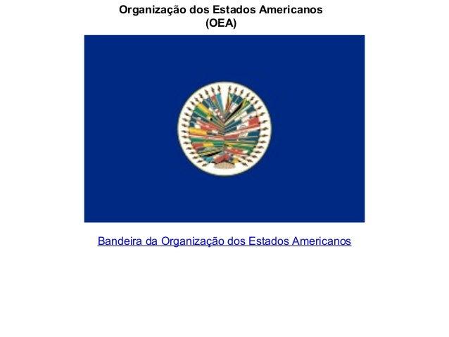 Organização dos Estados Americanos                 (OEA)Bandeira da Organização dos Estados Americanos
