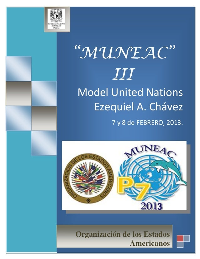 "[Escribir texto]                   ""MUNEAC""                      III                   Model United Nations               ..."