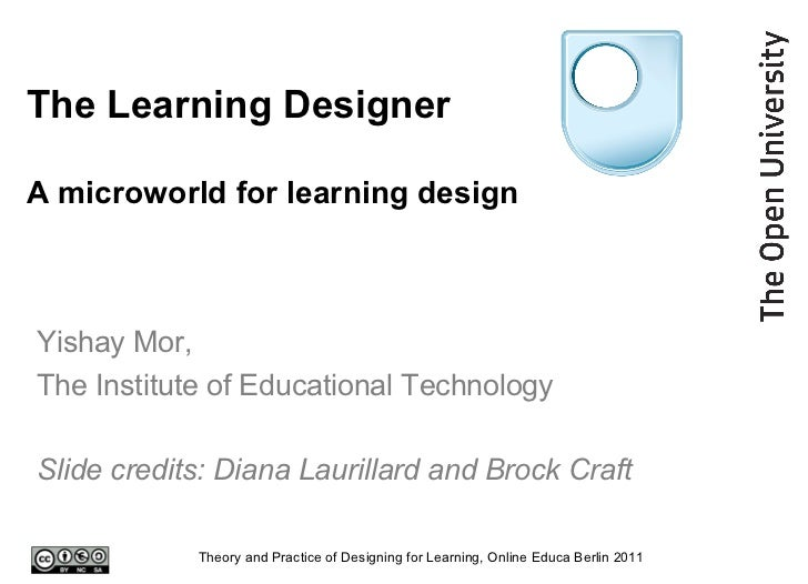 The Learning Designer A microworld for learning design Yishay Mor,  The Institute of Educational Technology Slide credits:...