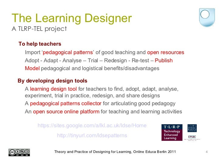 the learning designer - the theory and practice of design for learnin…