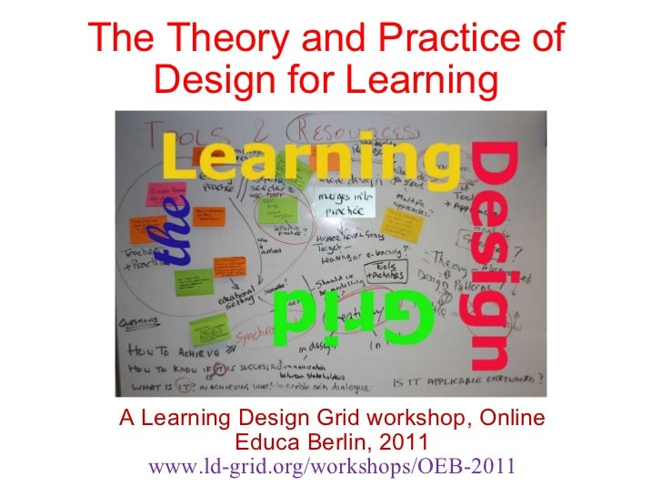 The Theory and Practice of Design for Learning A Learning Design Grid workshop, Online Educa Berlin, 2011 www.ld-grid.org/...