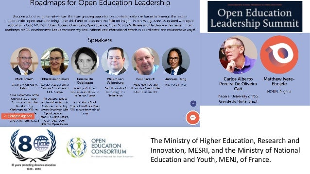 The Ministry of Higher Education, Research and Innovation, MESRI, and the Ministry of National Education and Youth, MENJ, ...