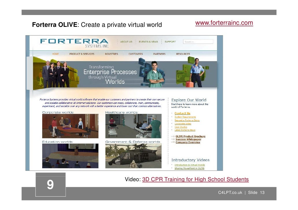 Forterra OLIVE: Create a private virtual world            www.forterrainc.com                                     Video: 3...