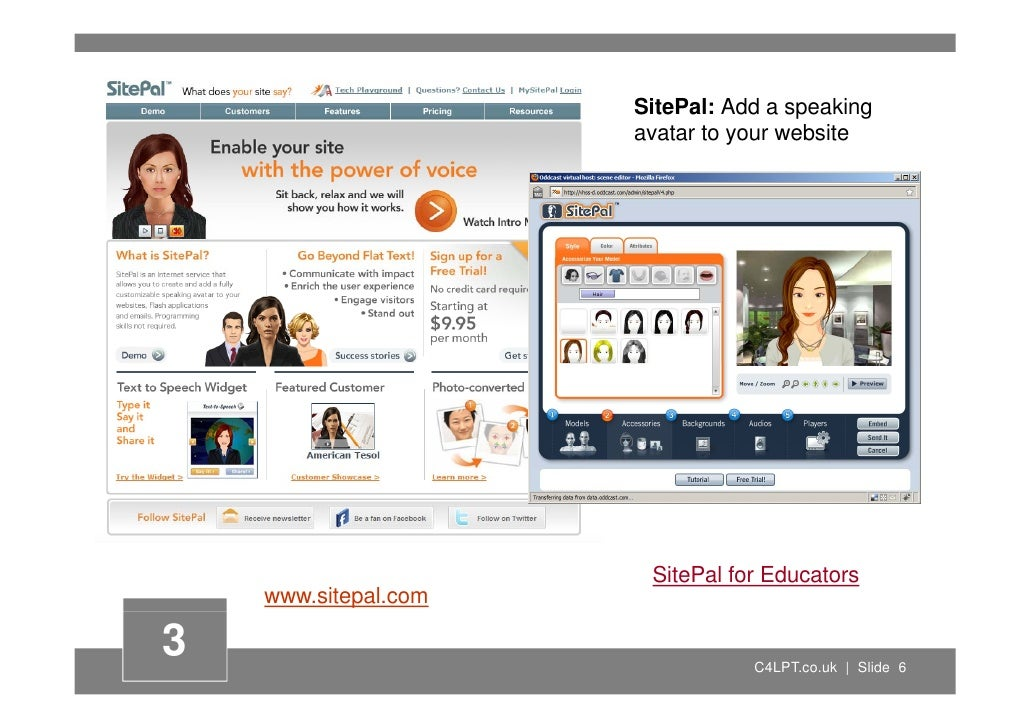 SitePal: Add a speaking                                       p      g                       avatar to your website       ...