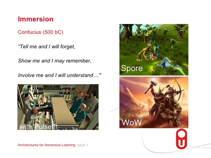Exploring Architectures for Fast and Easy Development of Immersive Learning Scenarios Slide 3
