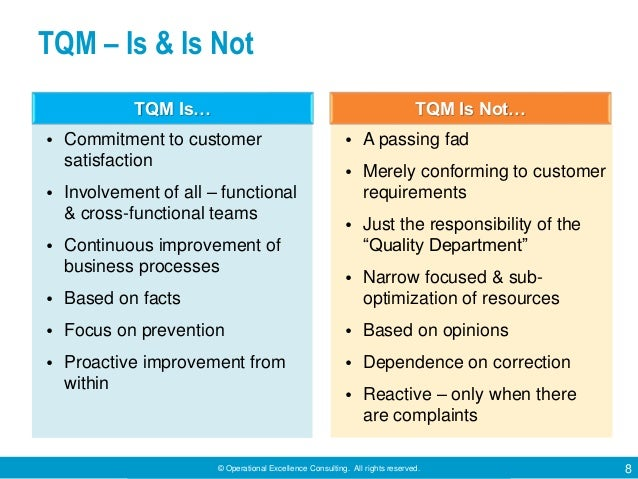 tqm and business excellence 50 methodology the objective of this study is to investigate the relationship between total quality management (tqm) and business excellence (b e) in small and medium sized.