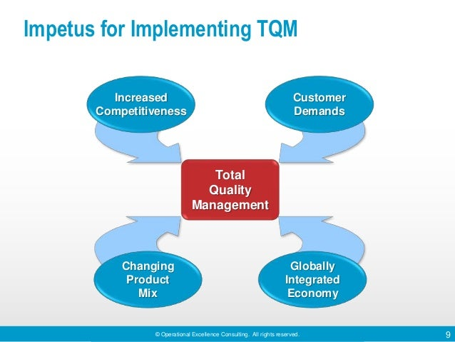 Total quality management emphasizes