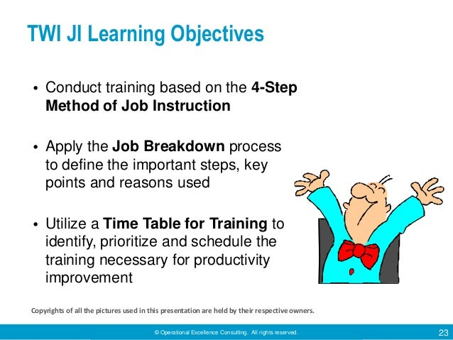 Overview Of Training Within Industry Twi By Operational Excellence
