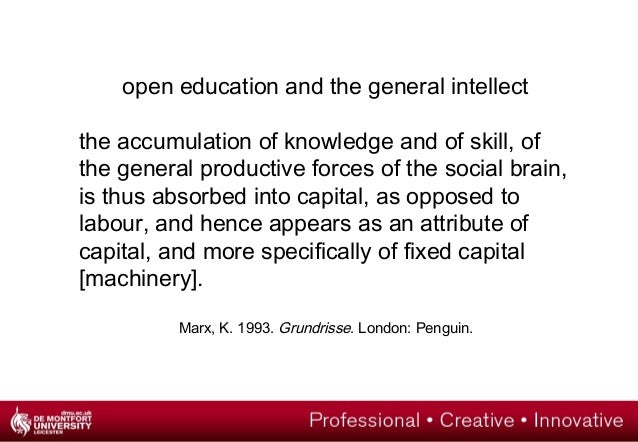 open education as struggle?  the possibility of struggle and emancipation lies in the autonomous  organisations that exist...