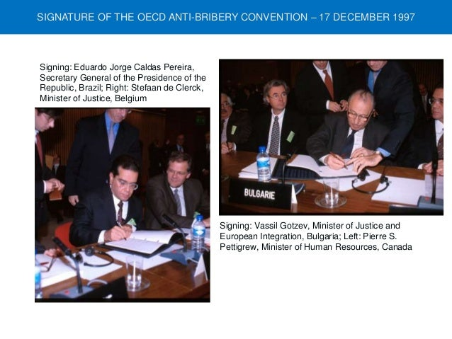 Signature of the OECD Anti-Bribery Convention in 1997